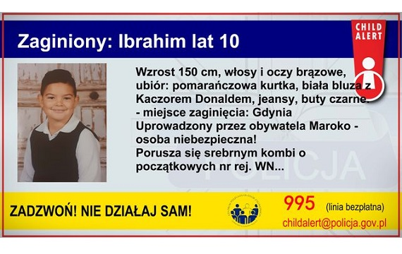 garwolin - Child Alert: Zaginał 10-letni Ibrahim
